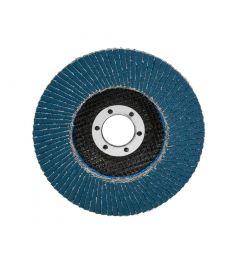 Lamellen-schuurschijf-korrelgrootte:-40,-diameter:-125-mm,-conisch